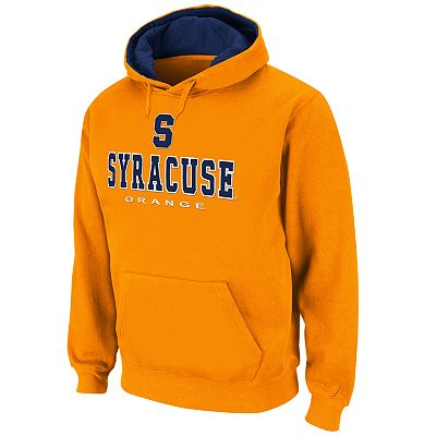 Colosseum Syracuse Orange Straight Logo Fleece Hoodie