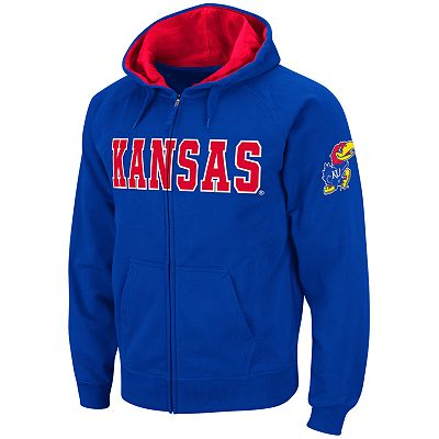 Colosseum Kansas Jayhawks Fleece Hoodie - Men