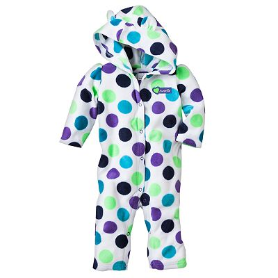Jumping Beans Printed Microfleece Hooded Coveralls - Baby