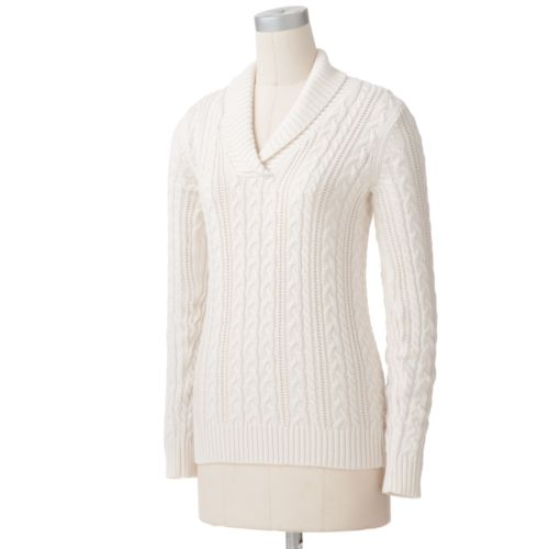 Croft And Barrow Cable-Knit Sweater