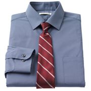 Van Heusen Classic-Fit Point-Collar Dress Shirt and Striped Tie Boxed Set