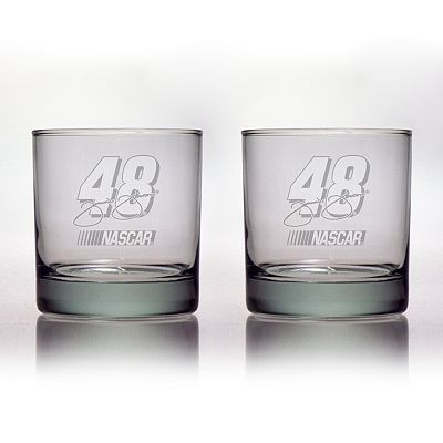 Susquehanna Glass NASCAR Jimmie Johnson 2-pc. Double Rocks Glass Set