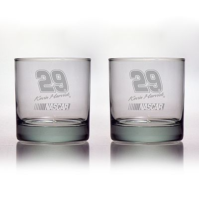 Susquehanna Glass NASCAR Kevin Harvick 2-pc. Double Rocks Glass Set