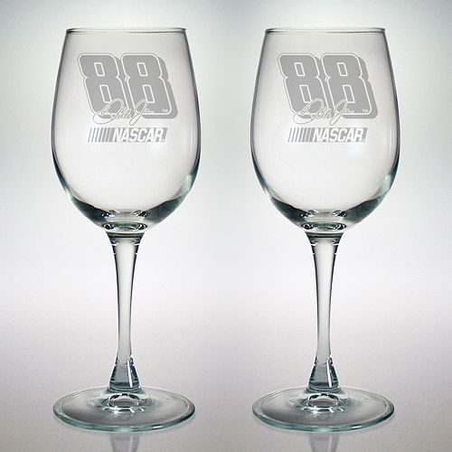 Susquehanna Glass Nascar Dale Earnhardt Jr. 2-Pc. Wine Glass Set