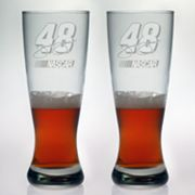 Susquehanna Glass NASCAR Jimmie Johnson 2-pc. Pilsner Glass Set