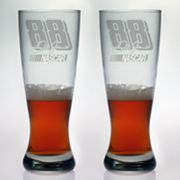 Susquehanna Glass NASCAR Dale Earnhardt Jr. 2-pc. Pilsner Glass Set