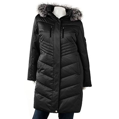 ZeroXposur Hooded Long Down Puffer Jacket - Women's Plus