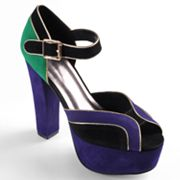 Journee Collection Bunny Peep-Toe Platform High Heels - Women