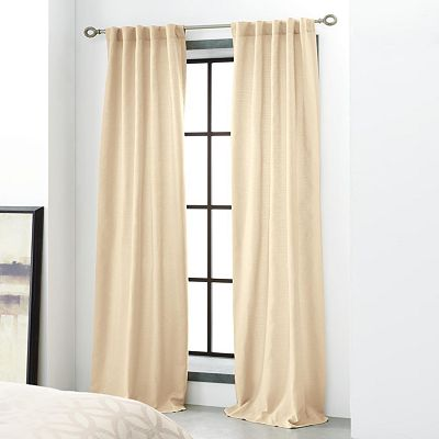 Simply Vera Vera Wang Interlocked Bark Cloth Window Panels