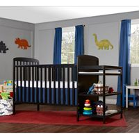 Dream On Me 2-in-1 Crib & Changing Table Set