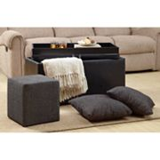 Kinfine Harrison 4-pc. Storage Ottoman Set