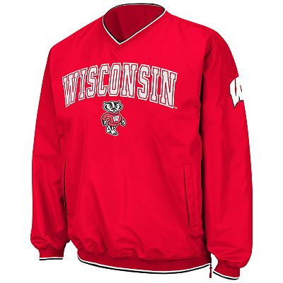 Colosseum Wisconsin Badgers Pullover Jacket - Men