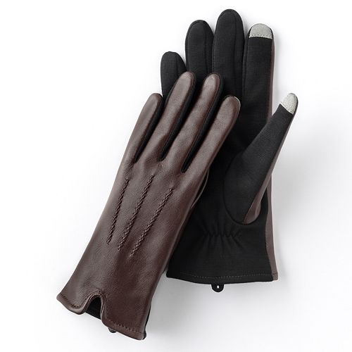 Apt. 9® Leather Texting Gloves