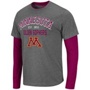 Colosseum Minnesota Golden Gophers Venture Mock-Layer Tee - Men