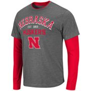 Colosseum Nebraska Cornhuskers Venture Mock-Layer Tee - Men