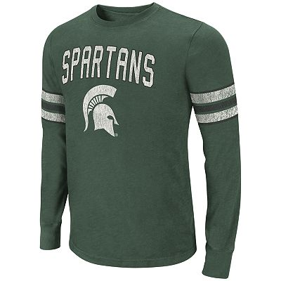 Colosseum Michigan State Spartans Tackle Tee - Men