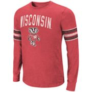 Colosseum Wisconsin Badgers Tackle Tee - Men