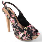 Journee Collection Blythe Peep-Toe Platform High Heels - Women