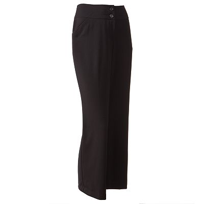 Apt. 9 Curvy Fit Solid Trouser Pants - Petite