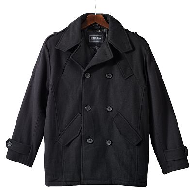 Ron Chereskin Wool Blend Double-Breasted Peacoat - Men