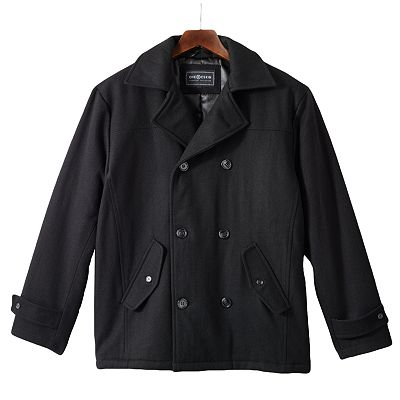 Ron Chereskin Wool Blend Italian Peacoat - Men