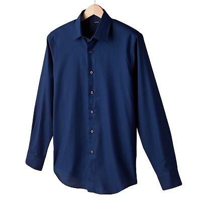 Apt. 9 Solid Woven Casual Button-Down Shirt