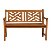 Teak Lattice Back Bench