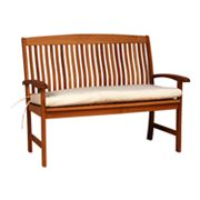 Teak Bench With Cushion