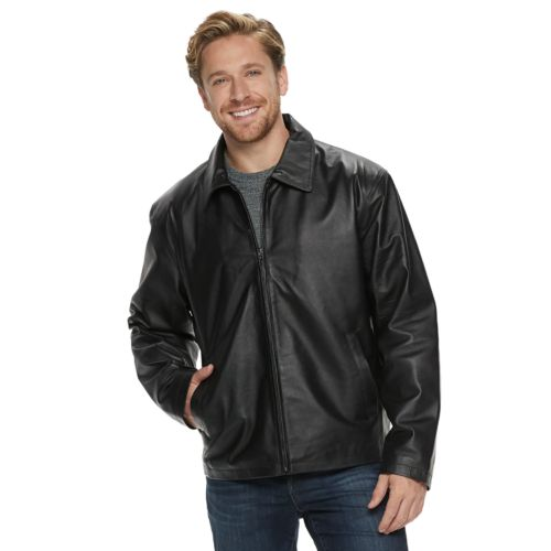 Men's Vintage Leather Black Split Napa Leather Jacket by Kohl's