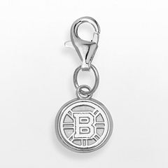LogoArt Boston Bruins Sterling Silver Logo Charm