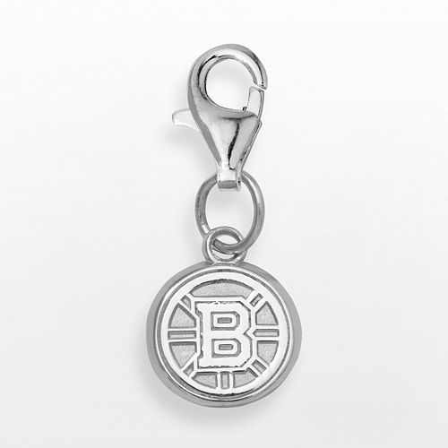 LogoArt Boston Bruins Sterling Silver Logo Charm