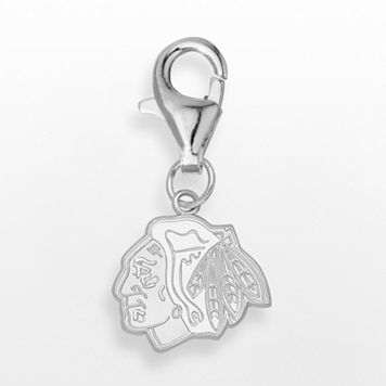 LogoArt Chicago Blackhawks Sterling Silver Logo Charm