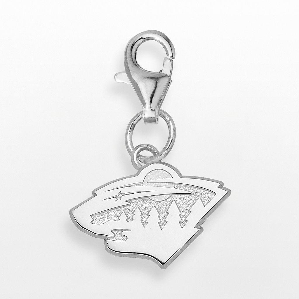 LogoArt Minnesota Wild Sterling Silver Logo Charm