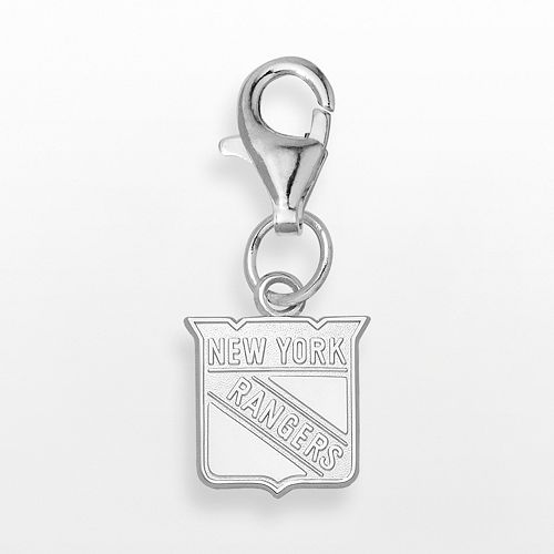 LogoArt New York Rangers Sterling Silver Logo Charm