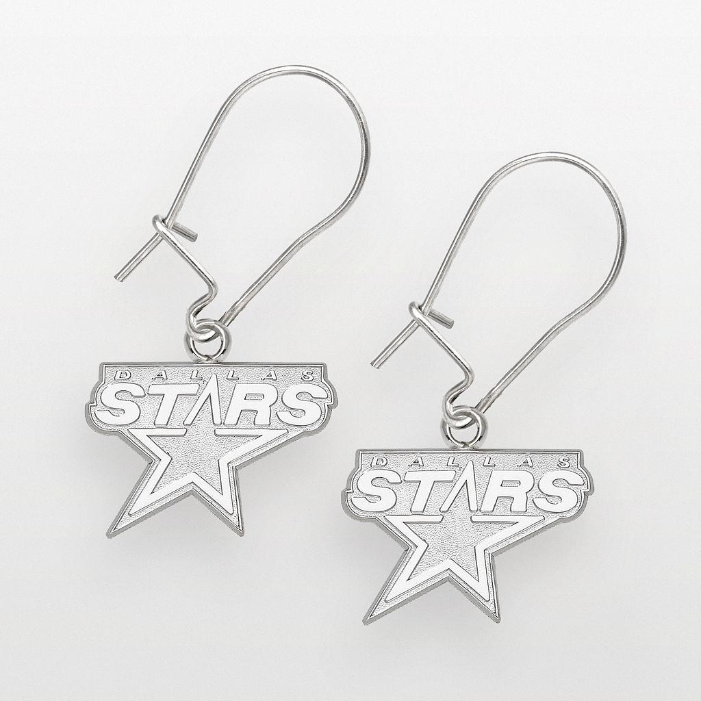 LogoArt Dallas Stars Sterling Silver Logo Drop Earrings