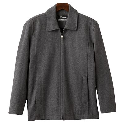 Domini Zip-Front Wool Blend Jacket - Big and Tall