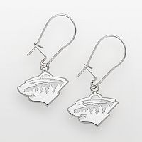 LogoArt Minnesota Wild Sterling Silver Logo Drop Earrings