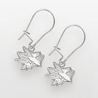 LogoArt San Jose Sharks Sterling Silver Logo Drop Earrings