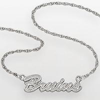 LogoArt Boston Bruins Sterling Silver Script Necklace