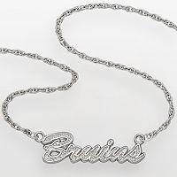 LogoArt Boston Bruins Sterling Silver Script Necklace