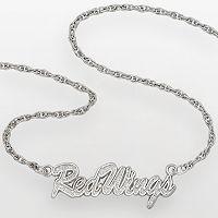 LogoArt Detroit Red Wings Sterling Silver Script Necklace