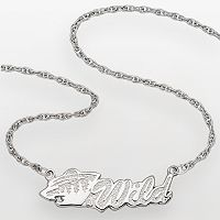 LogoArt Minnesota Wild Sterling Silver Script Necklace
