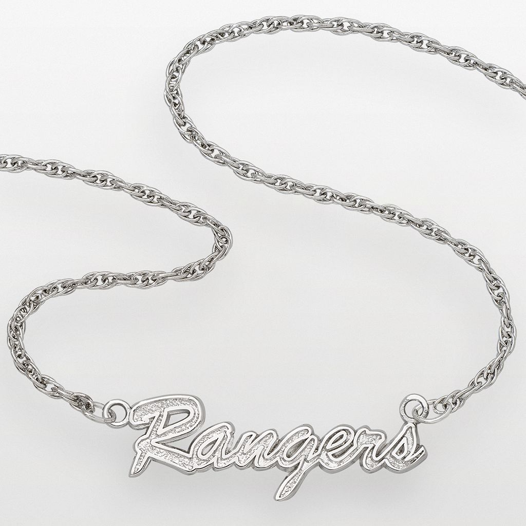 LogoArt New York Rangers Sterling Silver Script Necklace