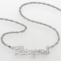LogoArt New York Rangers Sterling Silver Script Necklace