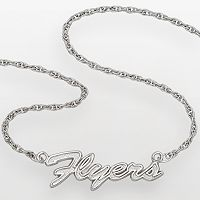 LogoArt Philadelphia Flyers Sterling Silver Script Necklace