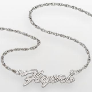 LogoArt Philadelphia Flyers Sterling Silver Script Necklace
