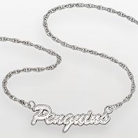 LogoArt Pittsburgh Penguins Sterling Silver Script Necklace
