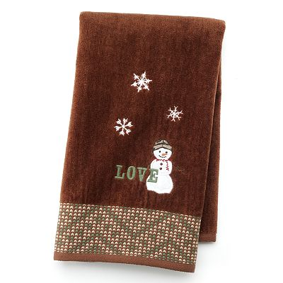 St. Nicholas Square Lodge Snowman Hand Towel