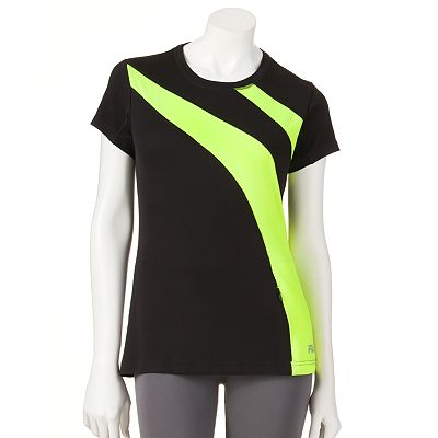 FILA SPORT Hurdle Colorblock Performance Running Tee