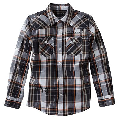 Helix Plaid Button-Down Shirt - Boys 8-20